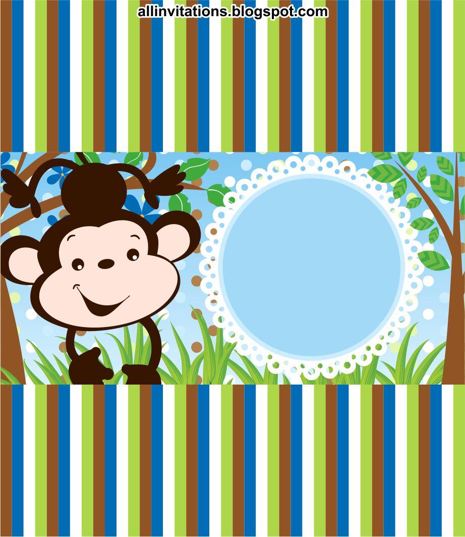 plantilla para etiqueta de chocolate para baby shower con el tema un changuito