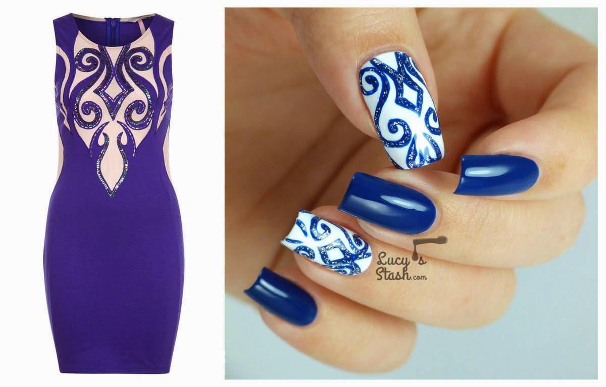 Nail Art Matching To A Party Dress Beauty Fashion Fun