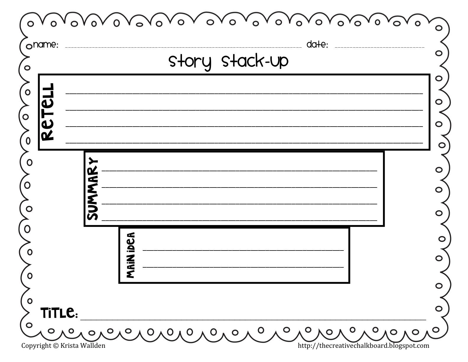 Title on the story funnel organizer so they could see how the main