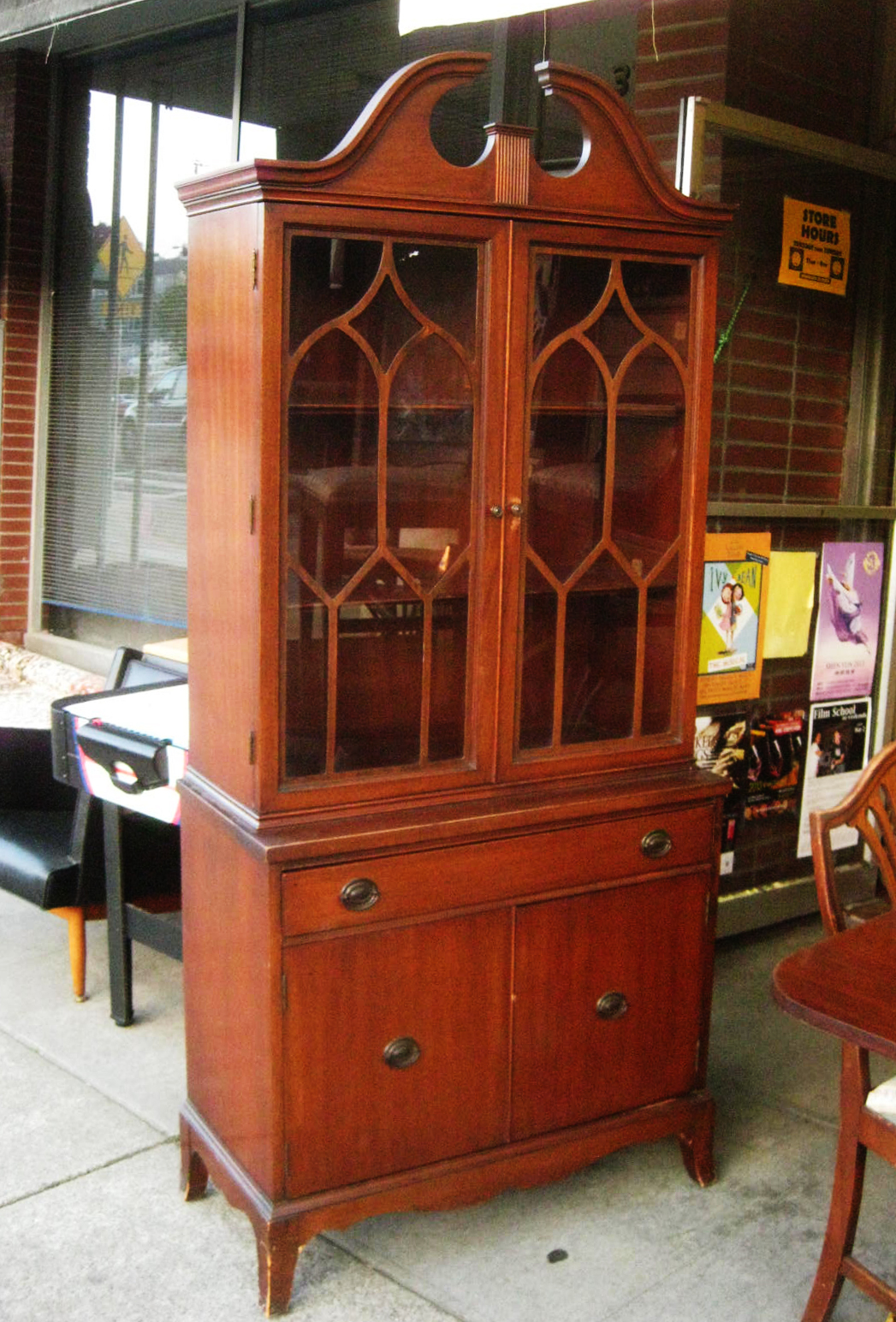 SOLD - Duncan Phyfe China Cabinet - $250