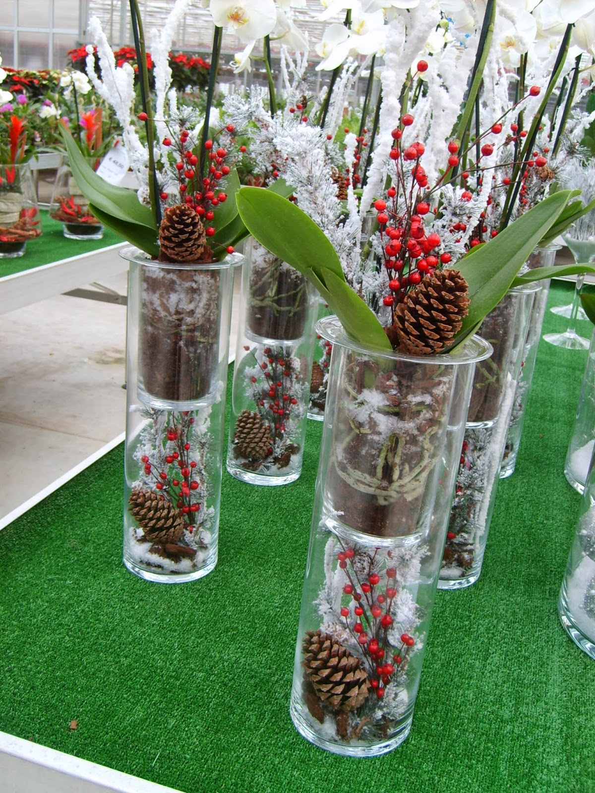 Fiorista il petalo i regali di babbo natale for Composizioni natalizie in vasi di vetro