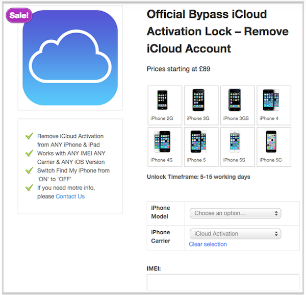 how to remove icloud lock for iphone ipad. Black Bedroom Furniture Sets. Home Design Ideas