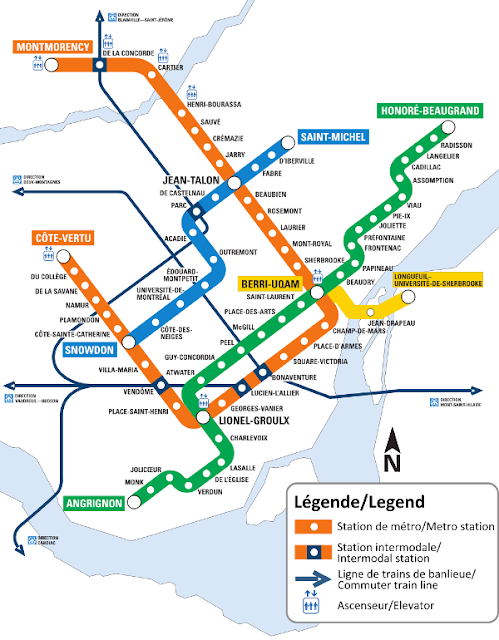 Plano de Metro de Montreal