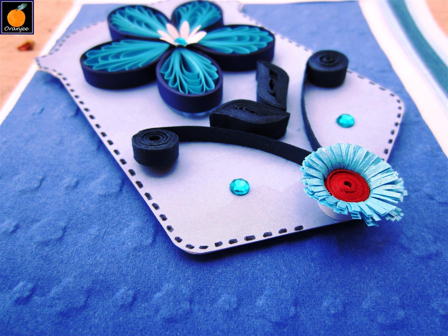 This Is My Card For Beautiful Occasion The Flower Quilled Using Husking Technique Both Tags Below And Sentiments One Are