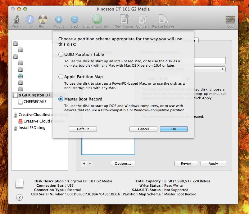 Как сделать загрузочную флешку с mac os из windows