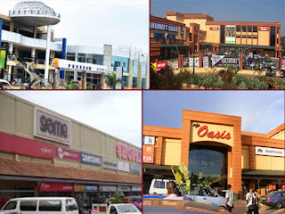 Some of the Shopping malls in Uganda.