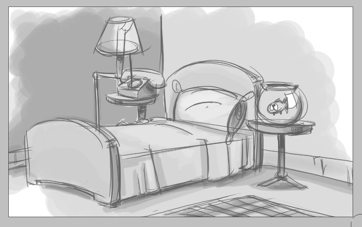 Simple Bedroom Drawing