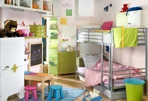 Dormitorio infantil para hermanas dormitorios con estilo for Chambre mixte 13 mai 2013