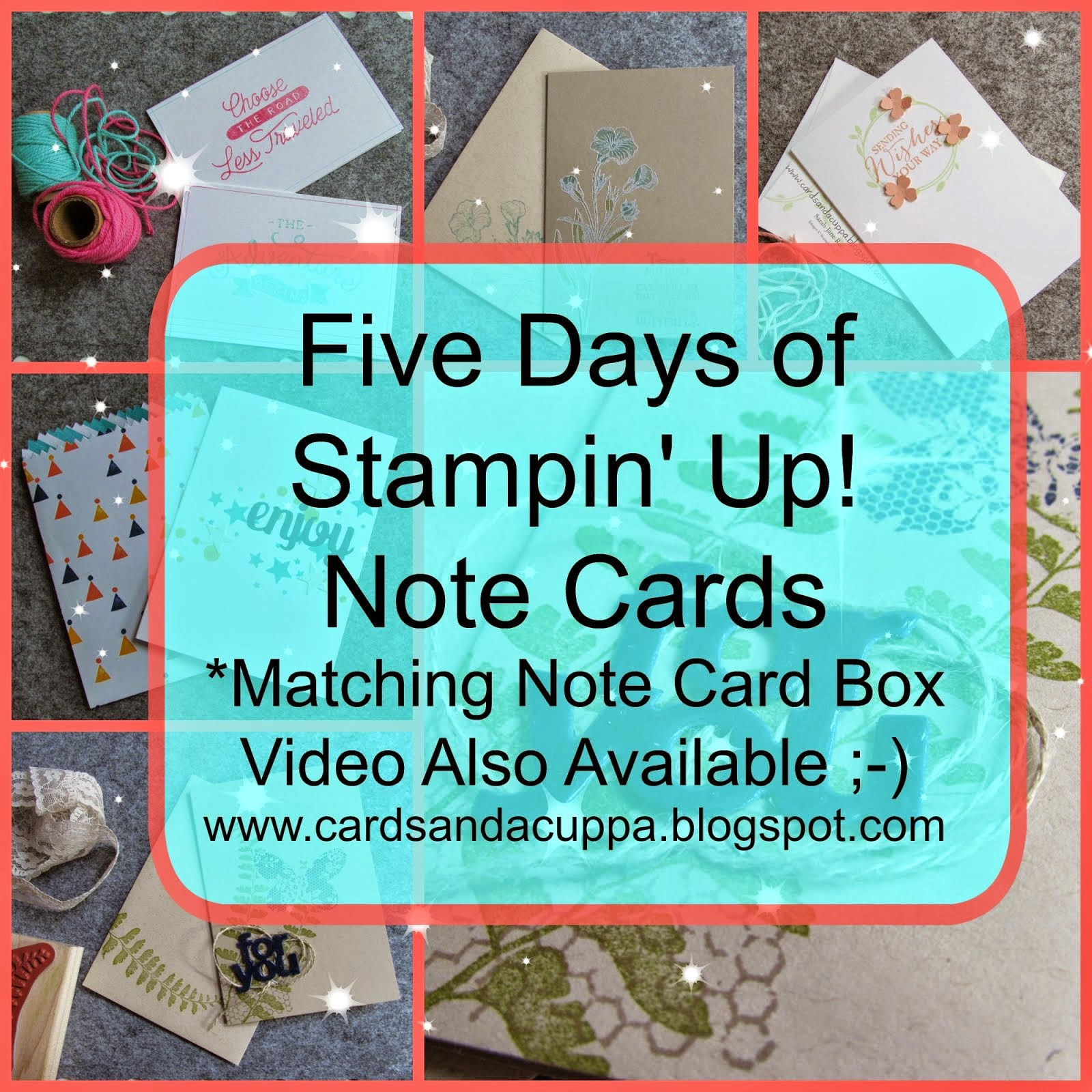 Five Days of Note Cards including a Video Tutorial for a Box to store them in!