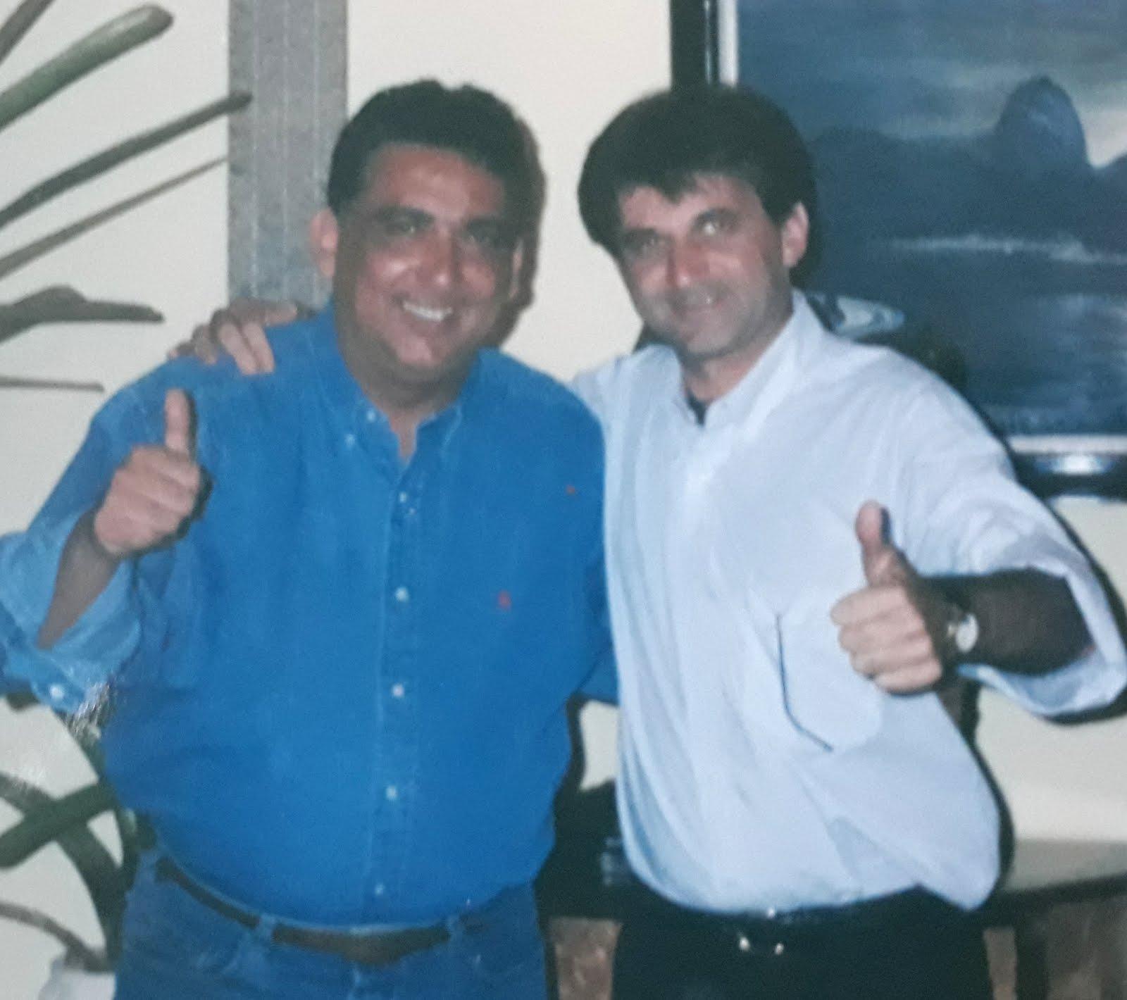 Airton Engster dos Santos e Galvão Bueno da Rede Globo