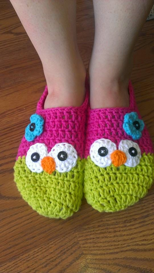 Yelenas Nest Owl Slippers Free Crochet Pattern