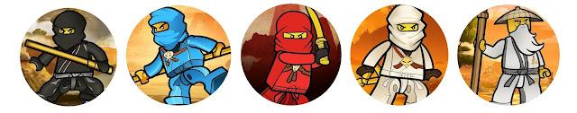 Toppers o Etiquetas para imprimir gratis de Ninjago.