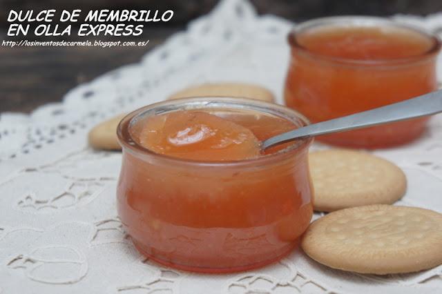 Dulce de membrillo en olla express los inventos de carmela - Repollo en olla express ...