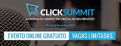 Marca oficial do Click Summit 2014 - palestra importante de marketing digital em Portugal