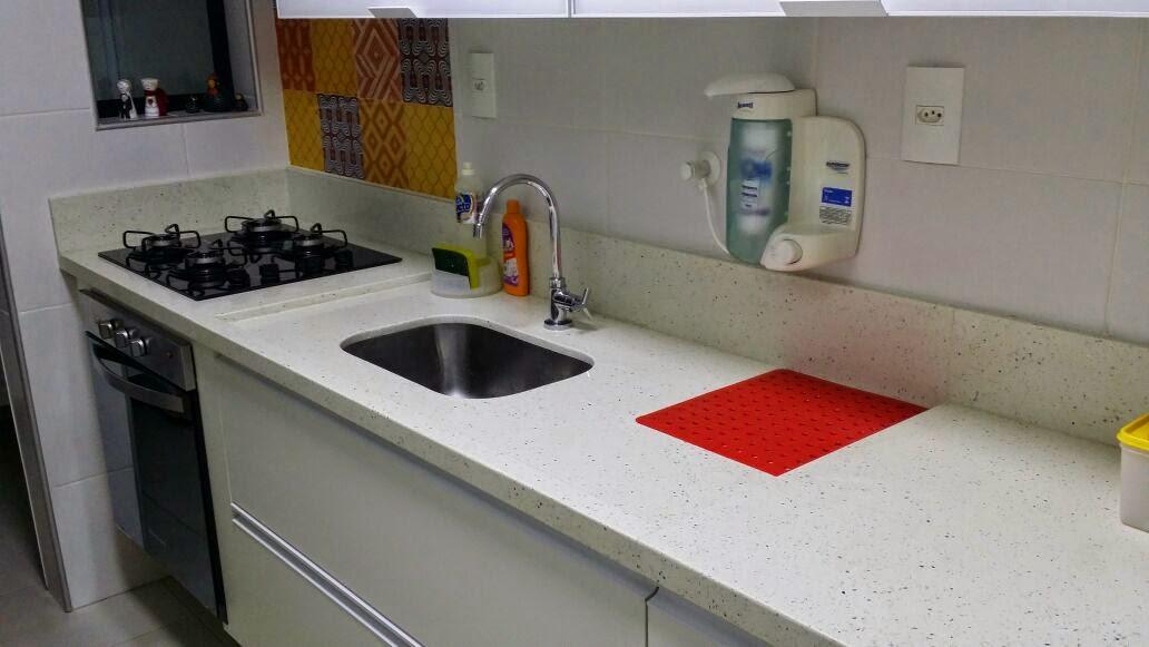 Ângulo Mármores e Granitos Bancada Cozinha em Silestone Branco Stellar # Bancada De Cozinha Granito Branco