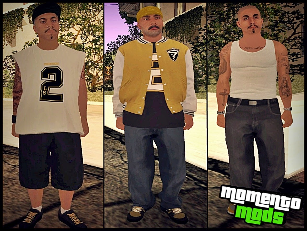 GTA SA - Pack De Skins Vagos Convertidos Do GTA V