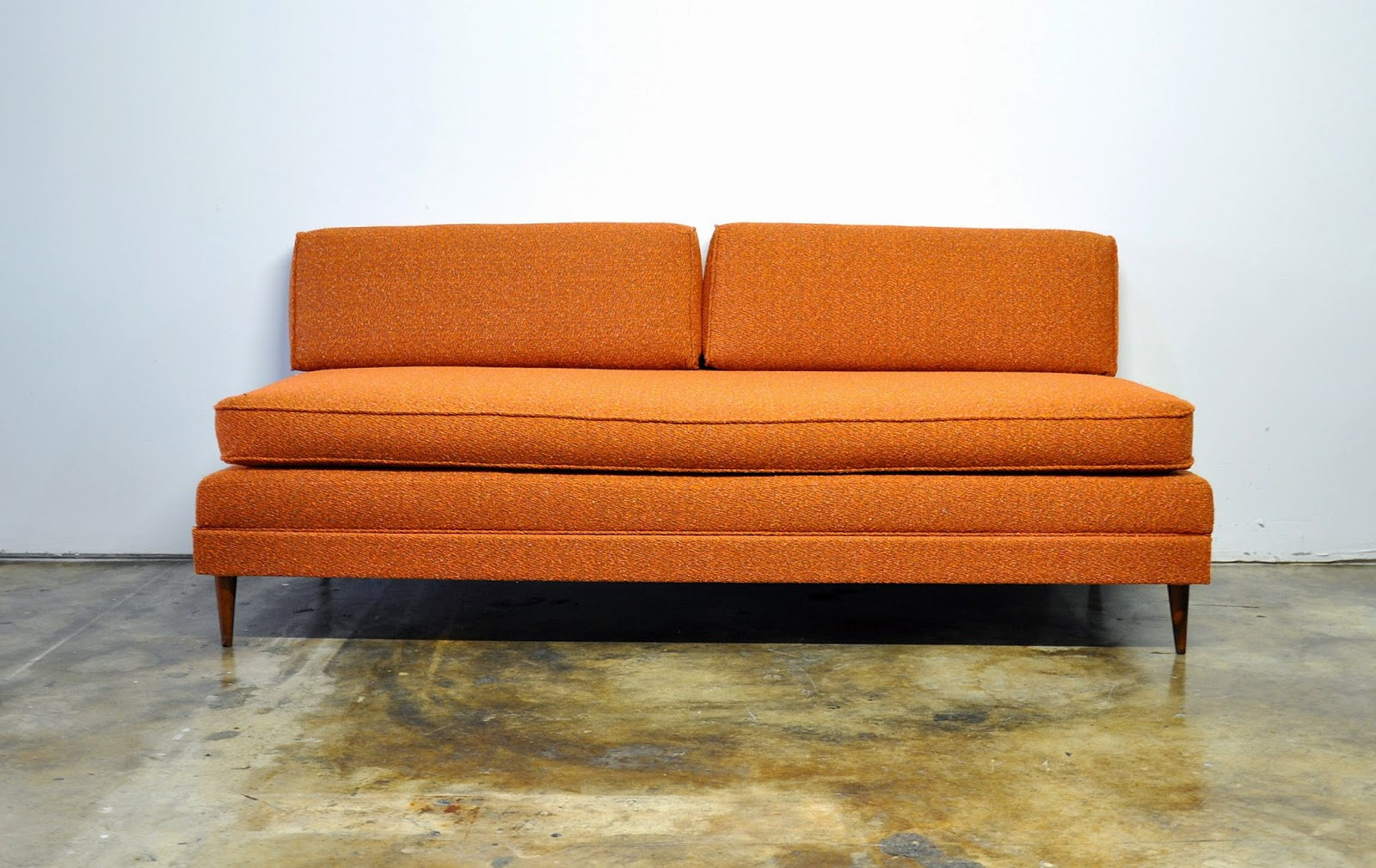 Select modern danish modern sofa or daybed with trundle for Mid century modern day bed