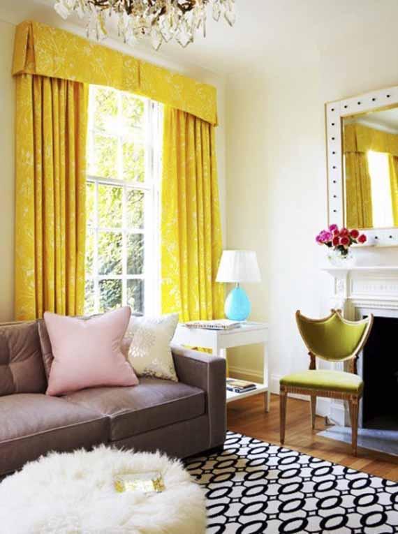 dekorasi ruang tamu rumah warna warni minimalist