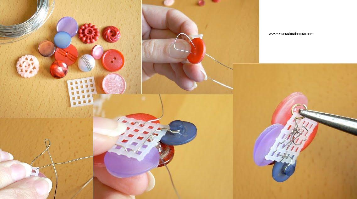 Como hacer collares con botones - Como hacer cuadros con botones ...
