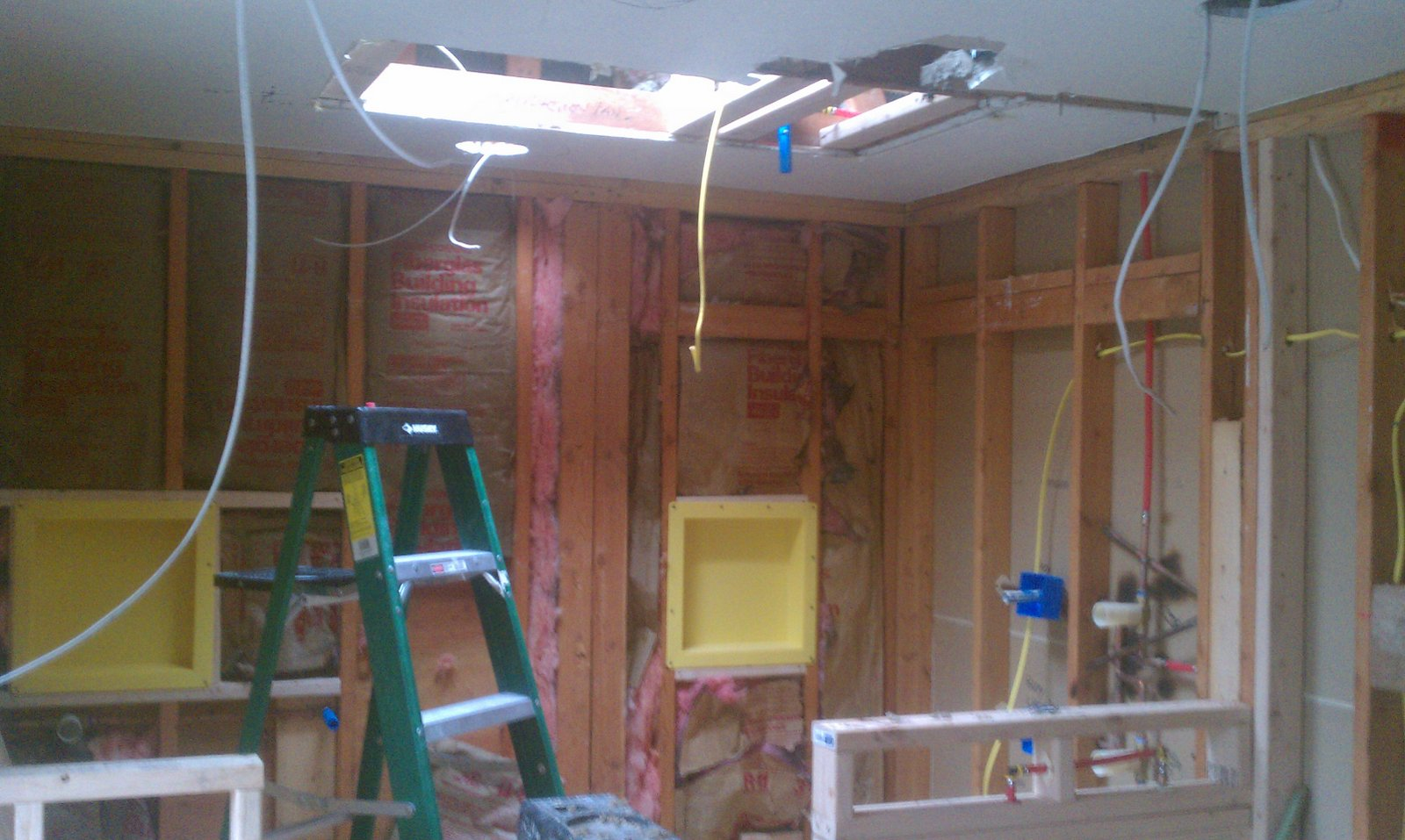 Peggy and Steve\'s Remodel: Electrical rough in.For recessed lighting ...