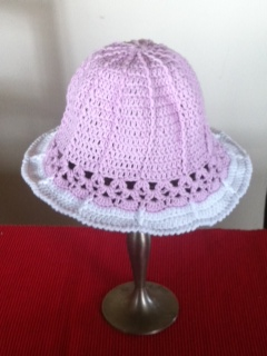 crochet baby sun hat