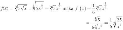 pembahasan soal Turunan Fungsi y = c . u