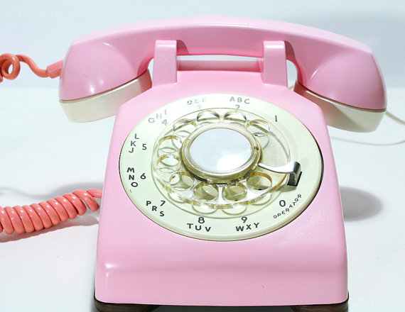 Refurbished Bell Rotary Aqua Pink Phone