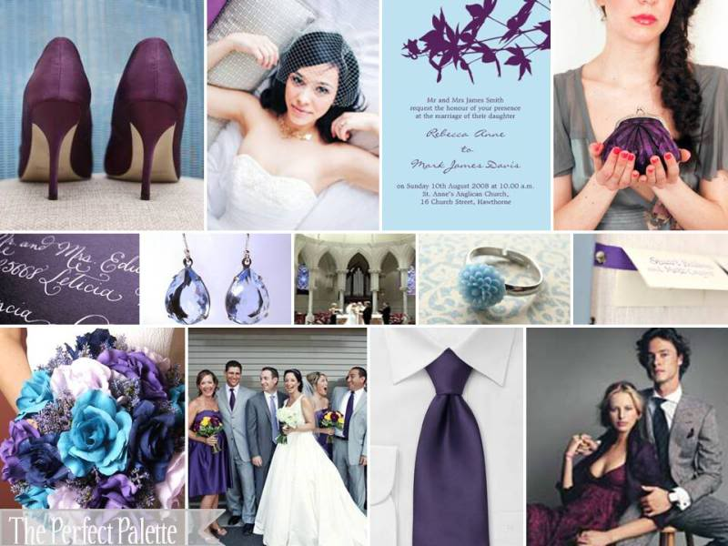 Jue space wordless wednesday color combination for wedding - Purple and blue combination ...