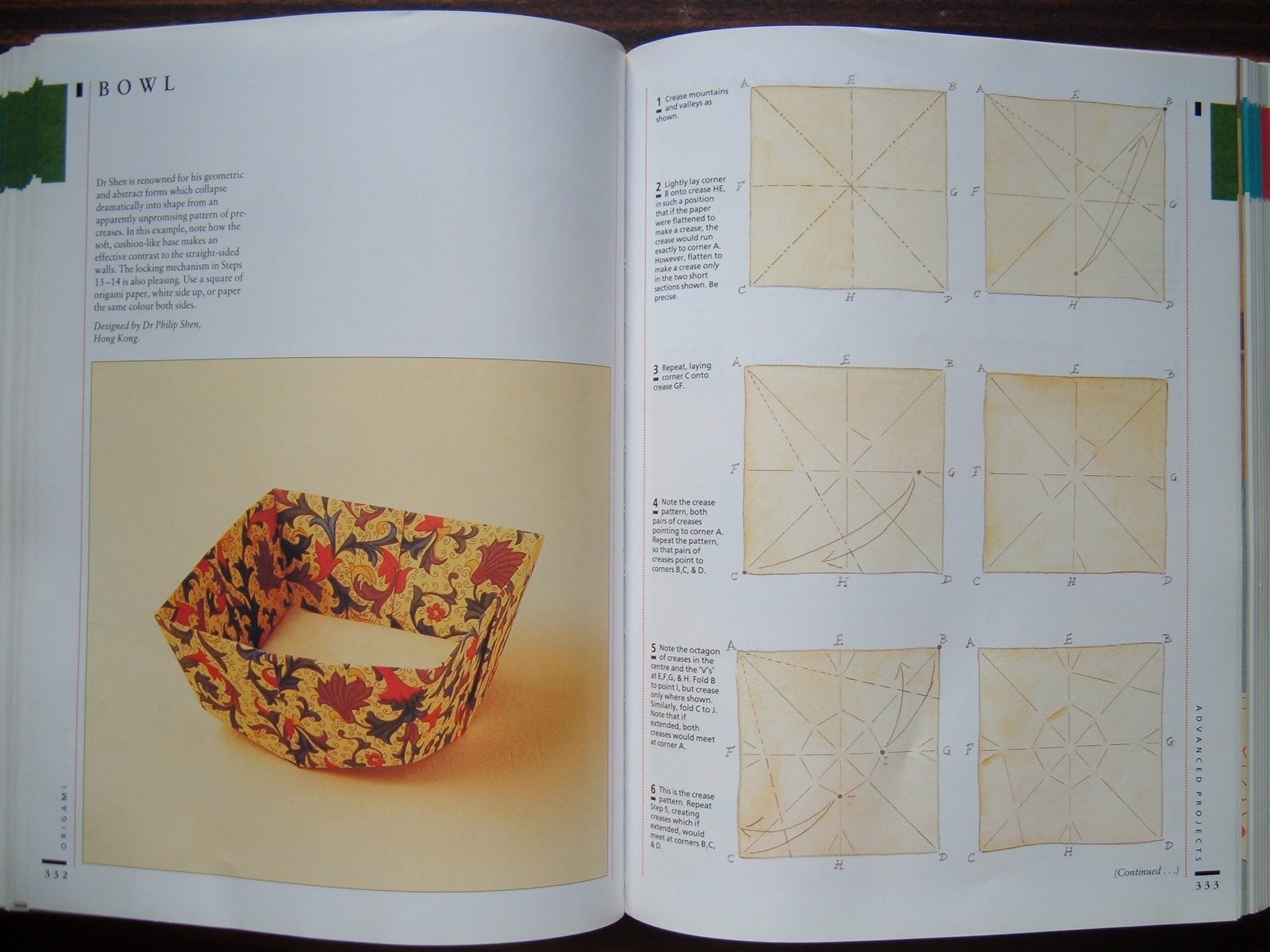 Origami Bowl Diagram Instruction