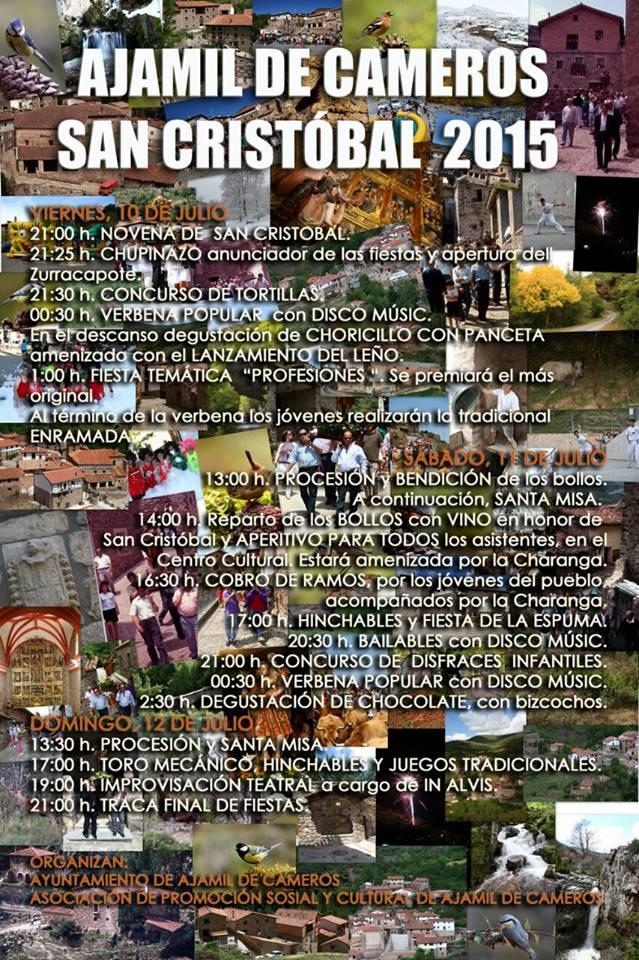 10, 11 y 12 de Julio: Ajamil - Fiestas de San Cristóbal 2015