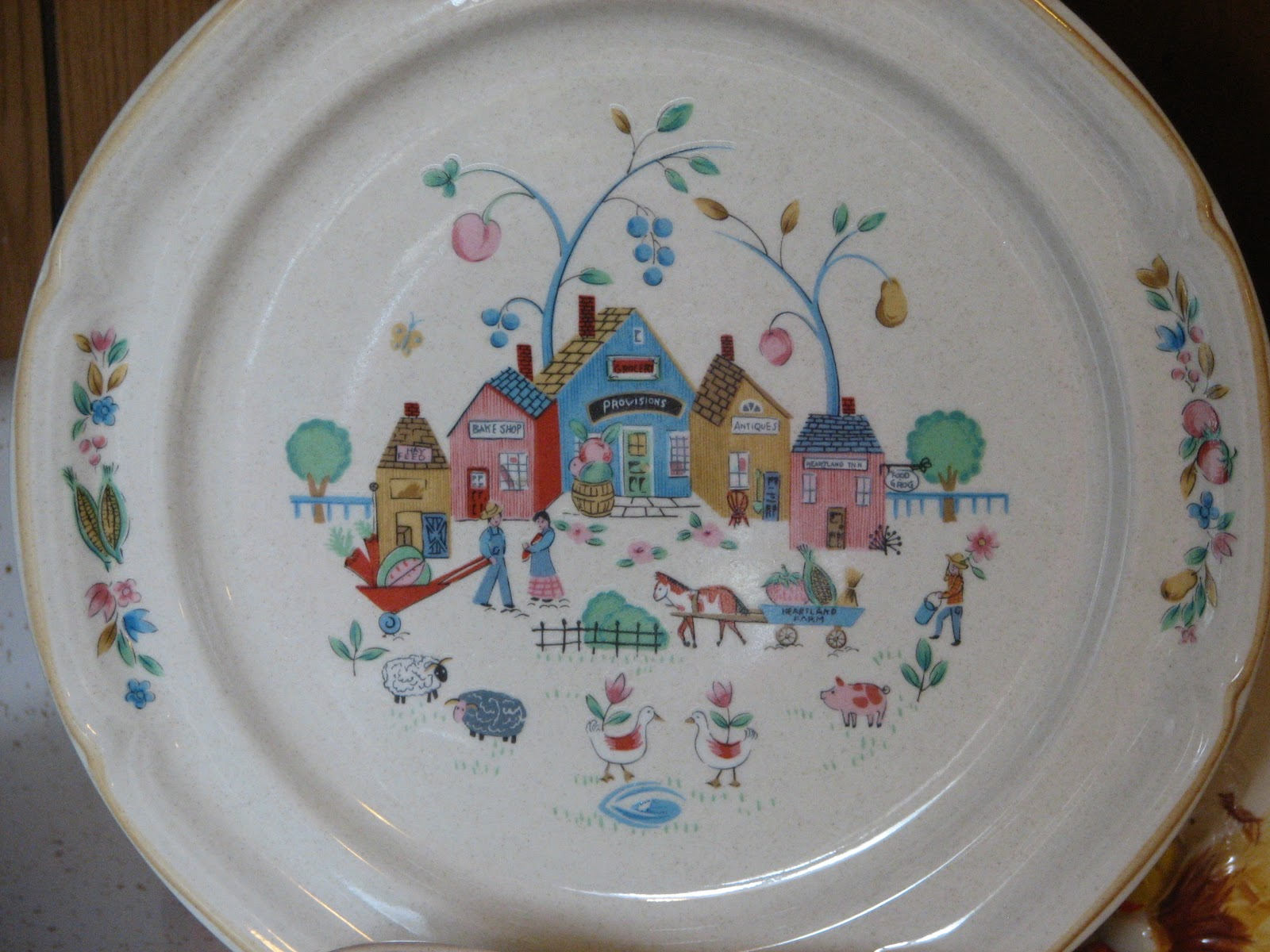 ... Dutch-flavored  Heartland  dinnerware. Made by International China in the 90u0027s it was available in several versions and many many different kitchen ... & They Call This America: A little blue people u0026 rooster Thanksgiving