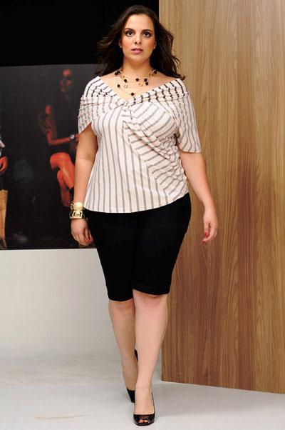 blusas de moda para gorditas de rayas