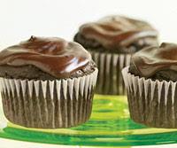 Glazed Chocolate-Avocado Cupcakes
