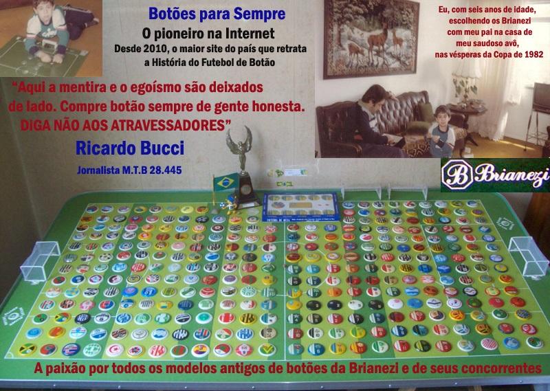 Todos os modelos de botões da Brianezi (1972-2001) e de seus concorrentes