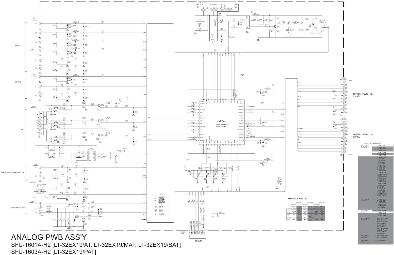 lt-32ex29 - lt-32ex19 - jvc lcd tv - main power supply - schematic  circuit diagram