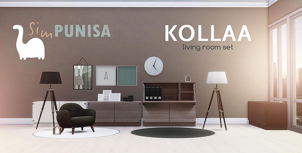 My sims 4 blog kollaa living room set by simpunisa for Living room sims 4