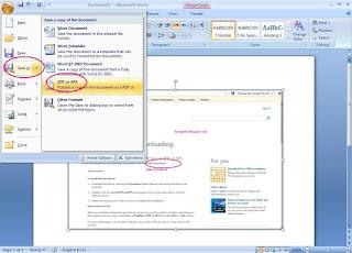 Cara membuat file Pdf dengan Office
