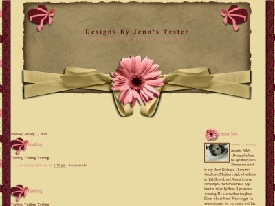 Cute Sweet Beautiful Template for Blog