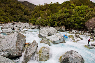 another complicated, multiple route rapid on the Upper Perth, NZ, new zealand, Chris baer, perth