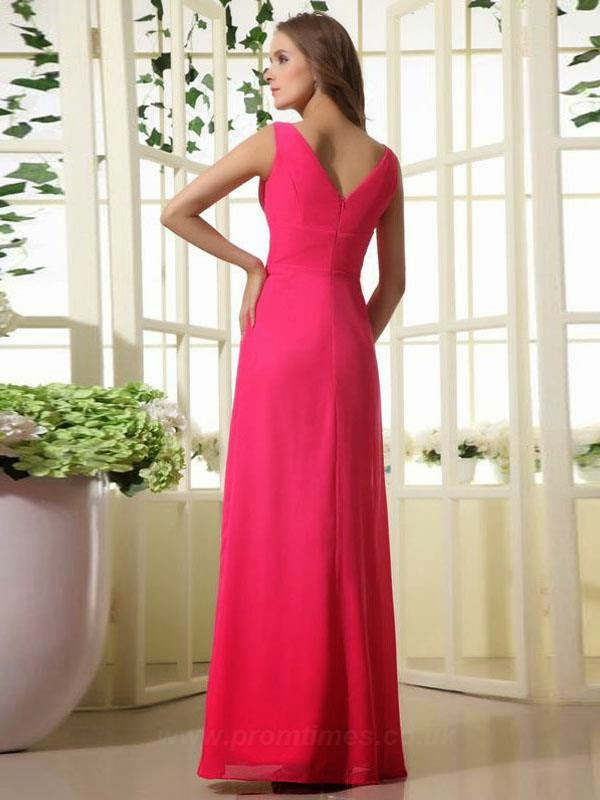 Pink Long Bridesmaids Dress