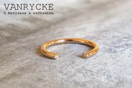 Vanrycke bague or rose diamants bijoux 18 carats