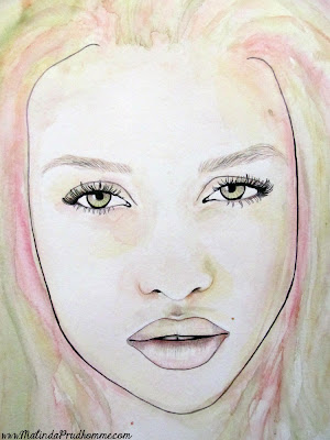 beauty art, mixed media art, mixed media artist, watercolour paintings, portrait art, portrait artist, portrait painting, female beauty