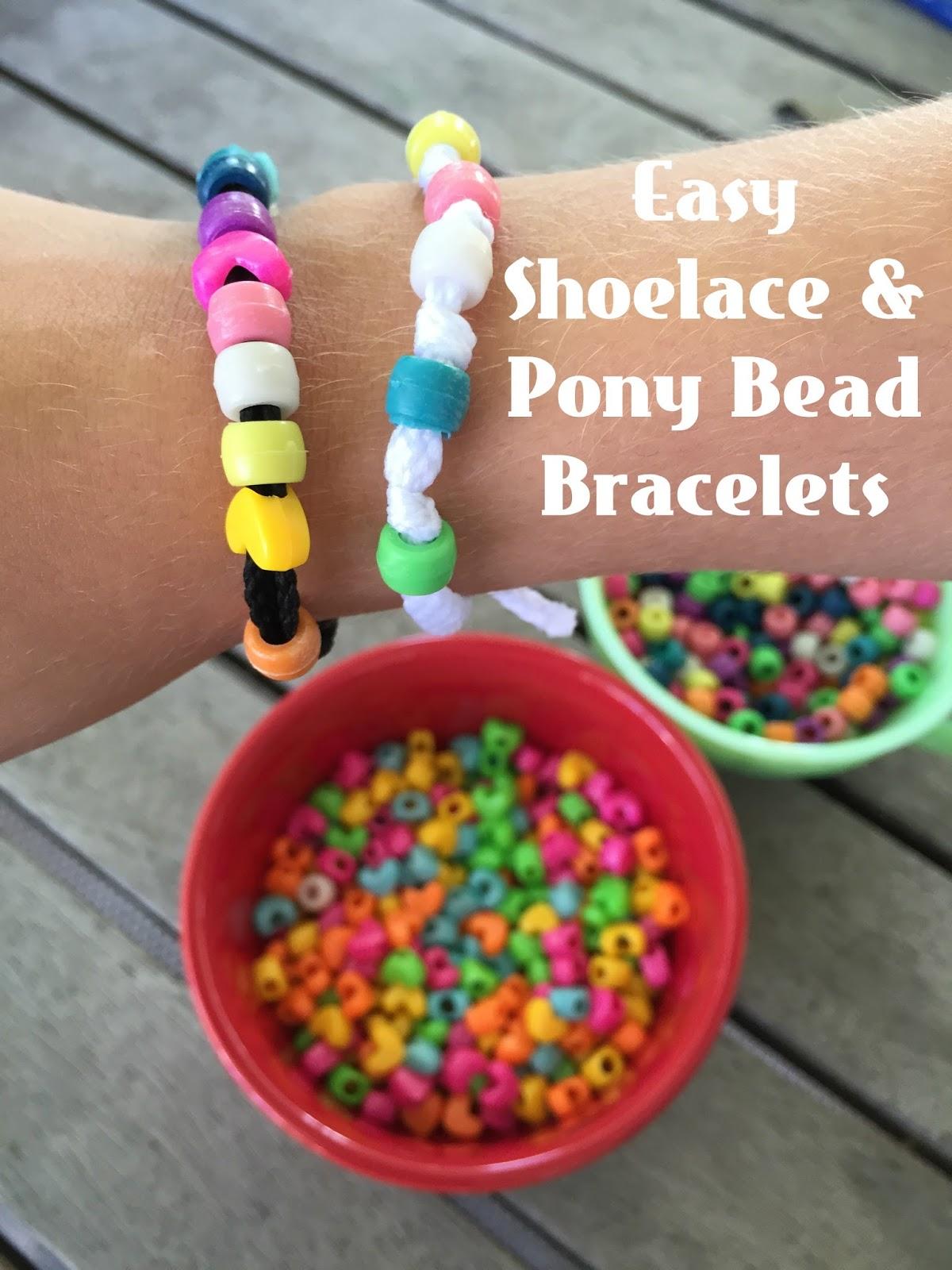 Be Brave, Keep Going: Easy Pony Bead Bracelet