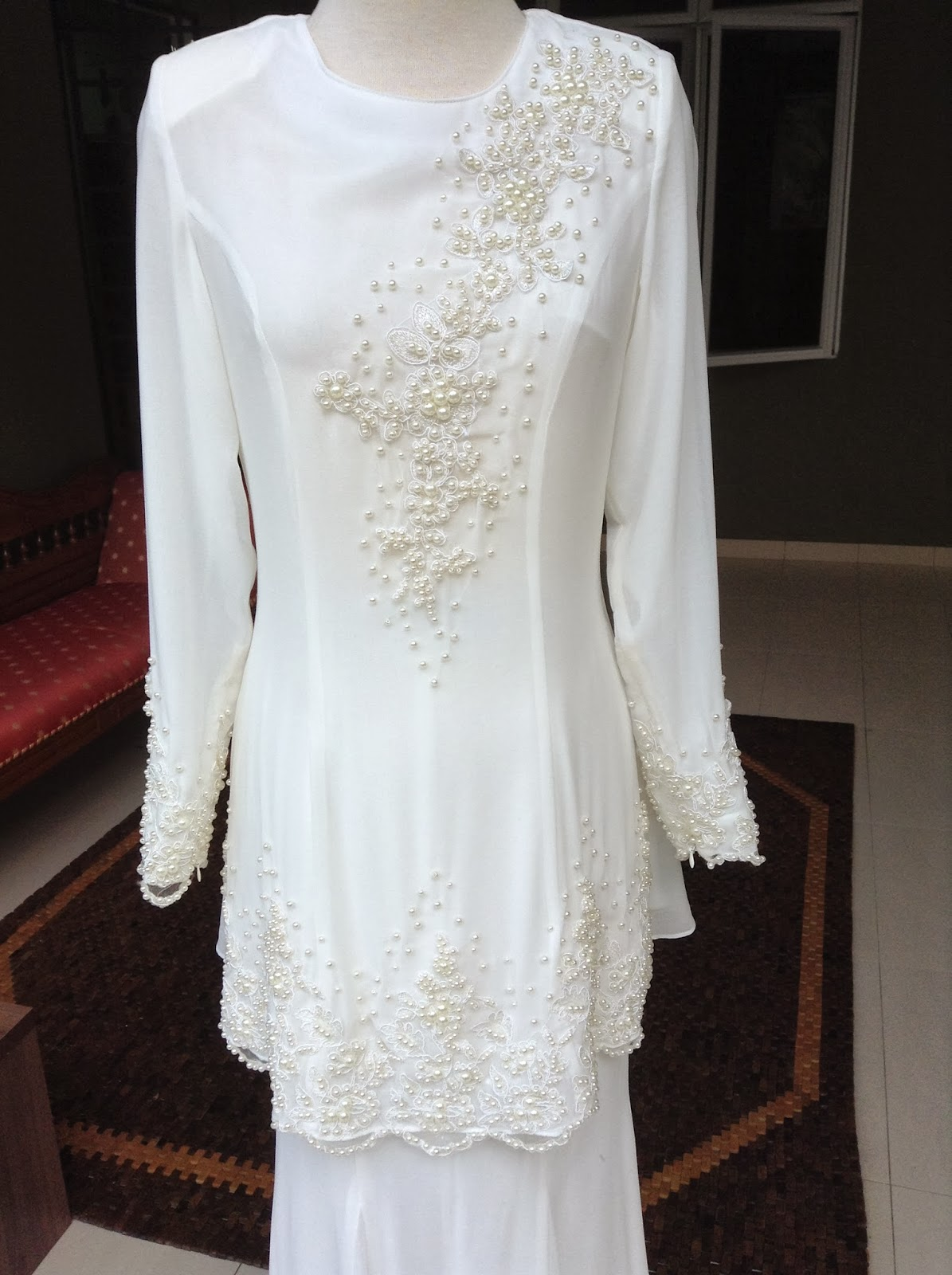 Baju Akad Nikah Tunang Putih My Wedding Dress