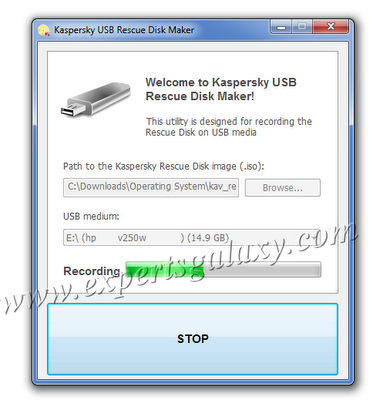 Recording USB Rescue Disk