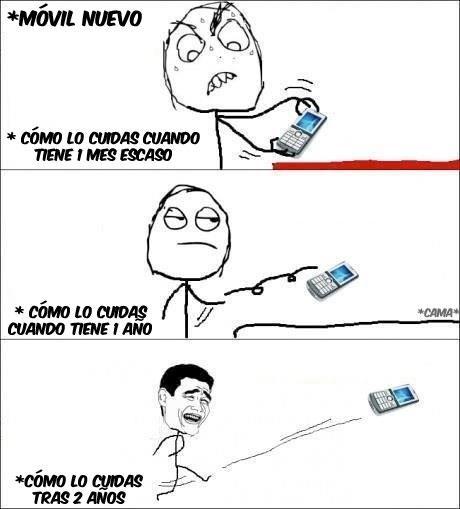 memes caricaturas  los celulares