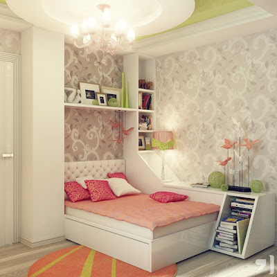 dormitorio elegante una niña