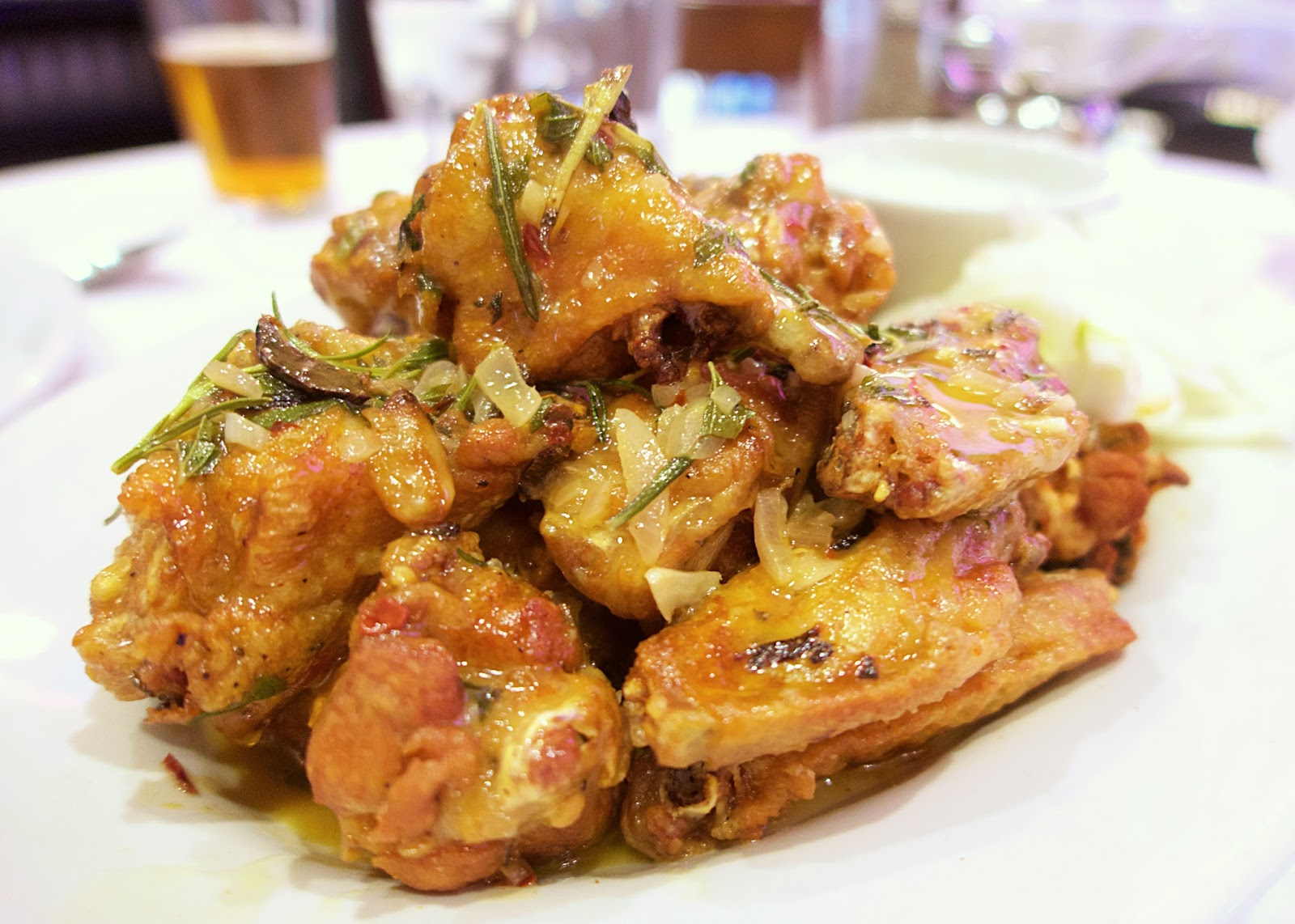 Carmine's Spicy Scarparielo Wings