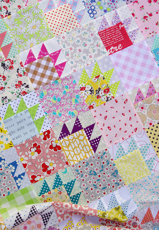 A Scrap Quilt and Bear Paw Block Tutorial   Red Pepper Quilts