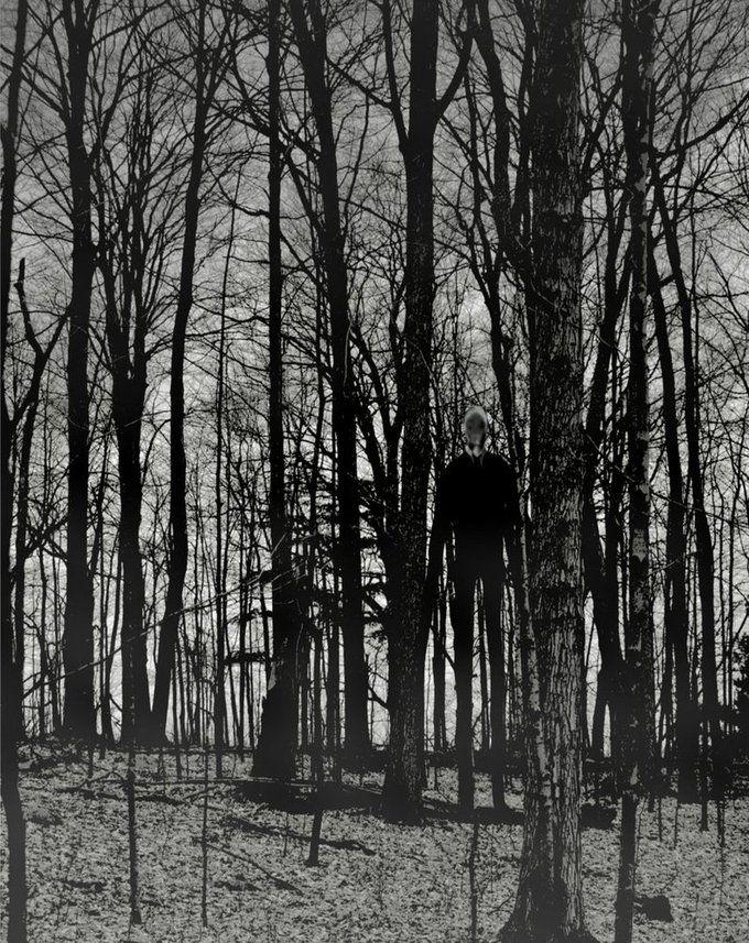 Foto Penampakan Slender Man Di Hutan